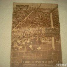 Coleccionismo deportivo: VIDA DEPORTIVA . ENERO 1955 . EN PORTADA , KUBALA . EN LA CONTRAPORTADA BAHAMONTES. Lote 72837995