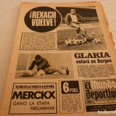 Collezionismo sportivo: MUNDO DEPORTIVO(27-4-73)COPA EUROPA ECOS R.MADRID-AJAX,ESPAÑOL REVELACIÓN LIGA,REXACH,EDDY MERCKX. Lote 72936455