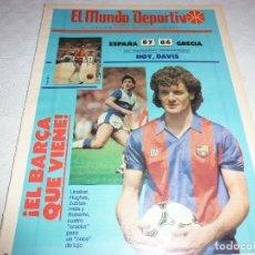 Collectionnisme sportif: MUNDO DEPORTIVO(8-7-86)EUROBASKET ESPAÑA 87 GRECIA 86,EL NUEVO BARÇA,KEVIN MC HALE(BASKET). Lote 73036927