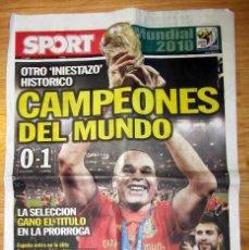 Coleccionismo deportivo: DIARIO SPORT ESPAÑA CAMPEON MUNDIAL SUDAFRICA 2010 FIFA WORLD CUP FOOTBALL SOUTH AFRICA. Lote 143361448