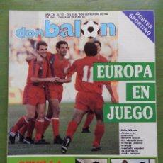 Coleccionismo deportivo: DON BALON 1988 BENGOECHEA SEVILLA-SERGIO MARRERO-ARGENTINA-REAL BETIS-LUIS MILLA BARÇA. Lote 111991742