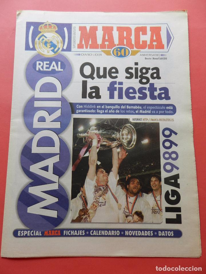 SUPLEMENTO ESPECIAL DIARIO MARCA PRESENTACION REAL MADRID 98/99-PLANTILLA TEMPORADA 1998/1999 (Coleccionismo Deportivo - Revistas y Periódicos - Marca)