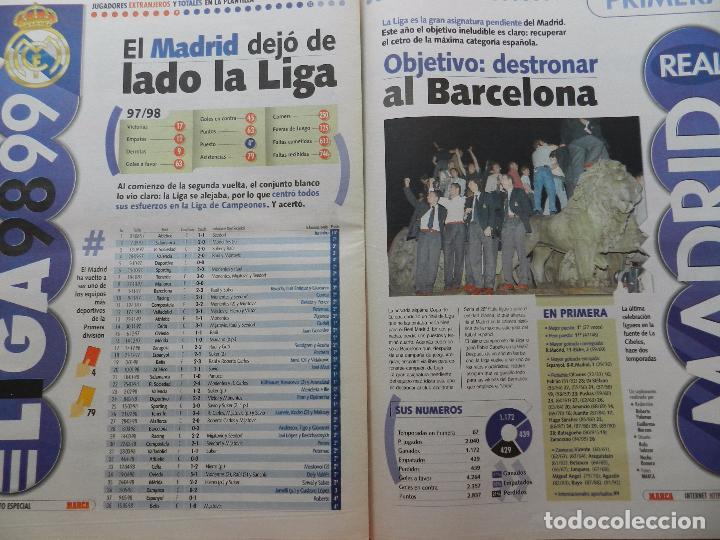 Coleccionismo deportivo: SUPLEMENTO ESPECIAL DIARIO MARCA PRESENTACION REAL MADRID 98/99-PLANTILLA TEMPORADA 1998/1999 - Foto 6 - 74673539