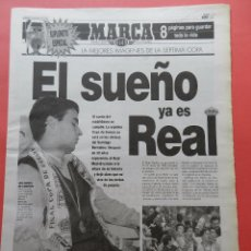 Coleccionismo deportivo: SUPLEMENTO ESPECIAL DIARIO MARCA REAL MADRID CAMPEON SEPTIMA COPA EUROPA 97/98 CHAMPIONS 1997/1998. Lote 74673703