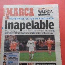 Coleccionismo deportivo: DIARIO MARCA AÑO 2001 REAL MADRID BAYERN MUNICH CHAMPIONS LEAGUE 00/01 - CARLOS SAINZ. Lote 74675687