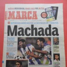 Collectionnisme sportif: DIARIO MARCA AÑO 2001 DEPORTIVO DE LA CORUÑA MANCHESTER UNITED CHAMPIONS 01/02 BARÇA GUARDIOLA. Lote 74681659