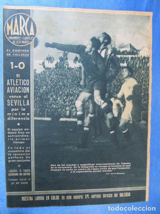 MARCA. SUPLEMENTO GRÁFICO DE LOS MARTES. AÑO II. 9 DE FEBRERO DE 1943. NUM. 11. (Coleccionismo Deportivo - Revistas y Periódicos - Marca)