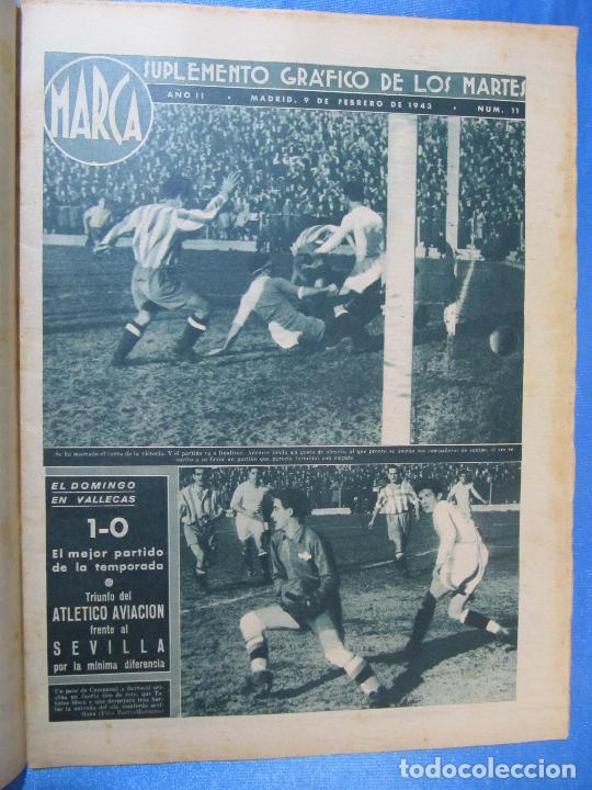 Coleccionismo deportivo: MARCA. SUPLEMENTO GRÁFICO DE LOS MARTES. AÑO II. 9 DE FEBRERO DE 1943. NUM. 11. - Foto 2 - 74685607