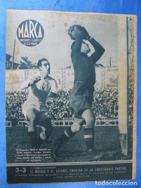 MARCA. SUPLEMENTO GRÁFICO DE LOS MARTES. AÑO II. 18 DE MAYO DE 1943. NUM. 25. (Coleccionismo Deportivo - Revistas y Periódicos - Marca)