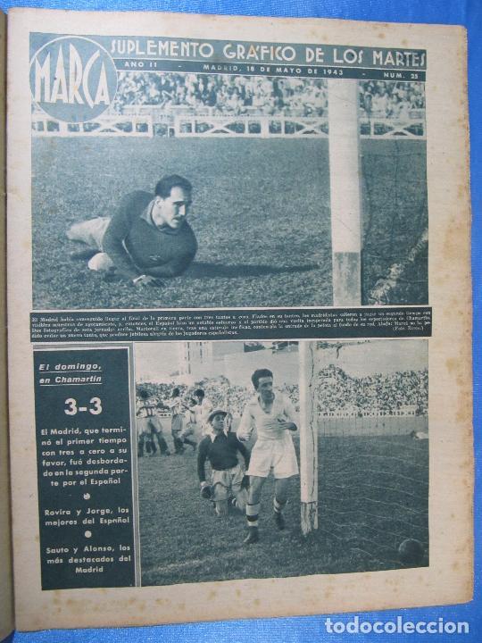 Coleccionismo deportivo: MARCA. SUPLEMENTO GRÁFICO DE LOS MARTES. AÑO II. 18 DE MAYO DE 1943. NUM. 25. - Foto 2 - 74686983