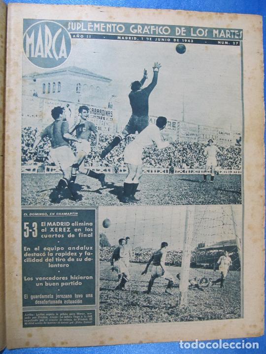 Coleccionismo deportivo: MARCA. SUPLEMENTO GRÁFICO DE LOS MARTES. AÑO II. 1 DE JUNIO DE 1943. NUM. 27. - Foto 2 - 74687663