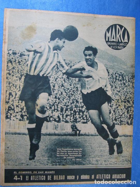 Coleccionismo deportivo: MARCA. SUPLEMENTO GRÁFICO DE LOS MARTES. AÑO II. 1 DE JUNIO DE 1943. NUM. 27. - Foto 3 - 74687663