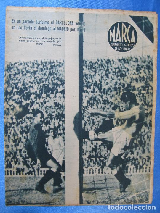 MARCA. SUPLEMENTO GRÁFICO DE LOS MARTES. AÑO II. 8 DE JUNIO DE 1943. NUM. 28. BARCELONA / MADRID. (Coleccionismo Deportivo - Revistas y Periódicos - Marca)