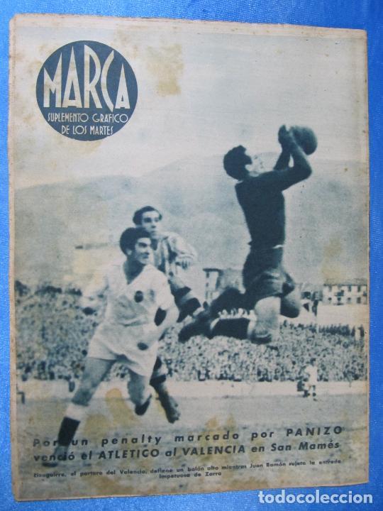 Coleccionismo deportivo: MARCA. SUPLEMENTO GRÁFICO DE LOS MARTES. AÑO II. 8 DE JUNIO DE 1943. NUM. 28. BARCELONA / MADRID. - Foto 3 - 74687915