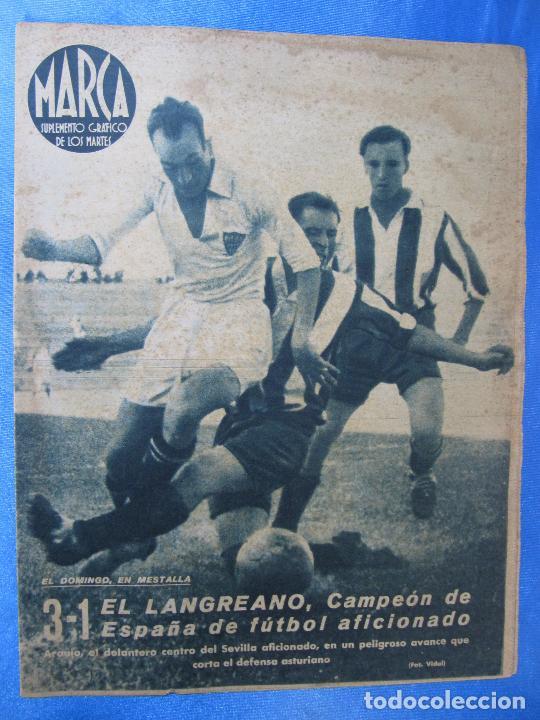 MARCA. SUPLEMENTO GRÁFICO DE LOS MARTES. AÑO II. 29 DE JUNIO DE 1943. NUM. 31. LANGREANO. (Coleccionismo Deportivo - Revistas y Periódicos - Marca)