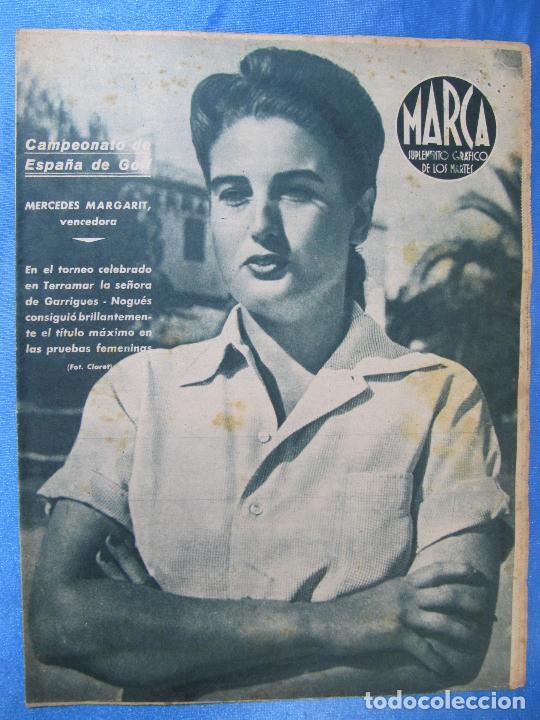 MARCA. SUPLEMENTO GRÁFICO DE LOS MARTES. AÑO II. 13 DE JULIO DE 1943. NUM. 33. GOLF, BOXEO. (Coleccionismo Deportivo - Revistas y Periódicos - Marca)