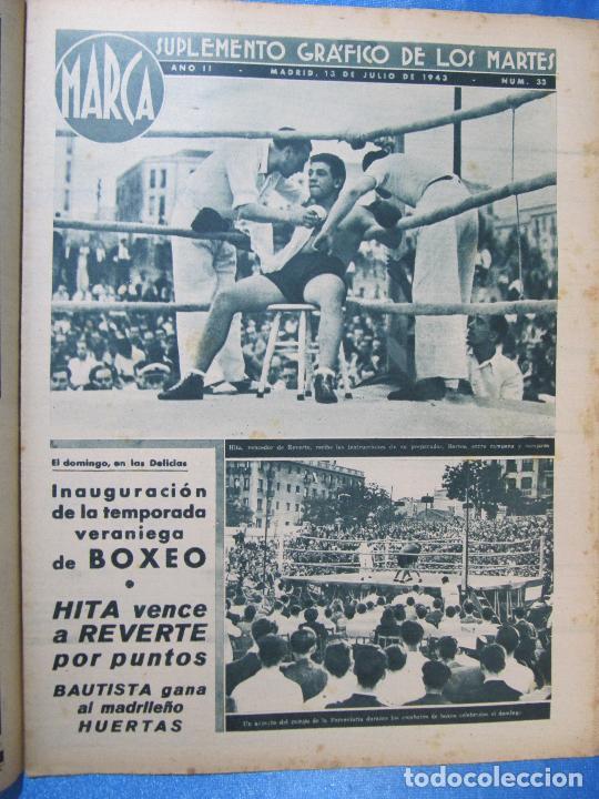 Coleccionismo deportivo: MARCA. SUPLEMENTO GRÁFICO DE LOS MARTES. AÑO II. 13 DE JULIO DE 1943. NUM. 33. GOLF, BOXEO. - Foto 2 - 74695391