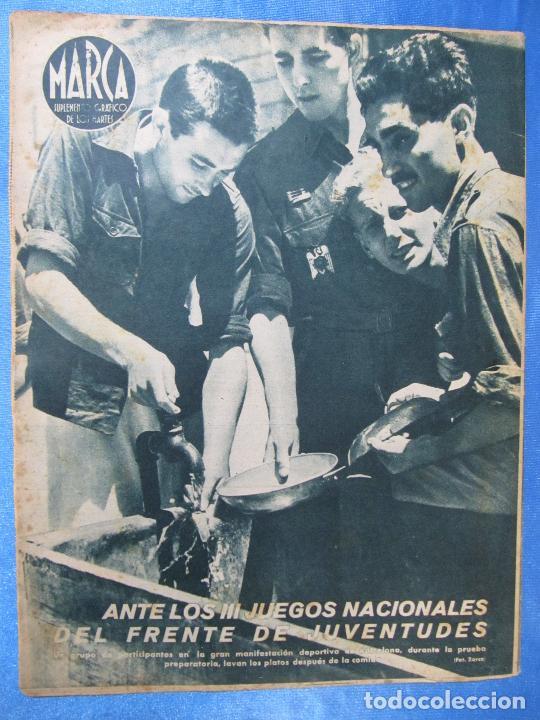 Coleccionismo deportivo: MARCA. SUPLEMENTO GRÁFICO DE LOS MARTES. AÑO II. 13 DE JULIO DE 1943. NUM. 33. GOLF, BOXEO. - Foto 3 - 74695391