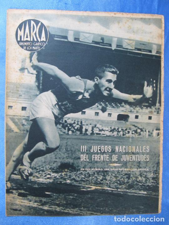 MARCA. SUPLEMENTO GRÁFICO DE LOS MARTES. AÑO II. 20 DE JULIO DE 1943. NUM. 34. FRENTE JUVENTUDES. (Coleccionismo Deportivo - Revistas y Periódicos - Marca)