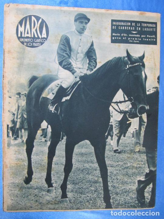 Coleccionismo deportivo: MARCA. SUPLEMENTO GRÁFICO DE LOS MARTES. AÑO II. 20 DE JULIO DE 1943. NUM. 34. FRENTE JUVENTUDES. - Foto 3 - 74695559