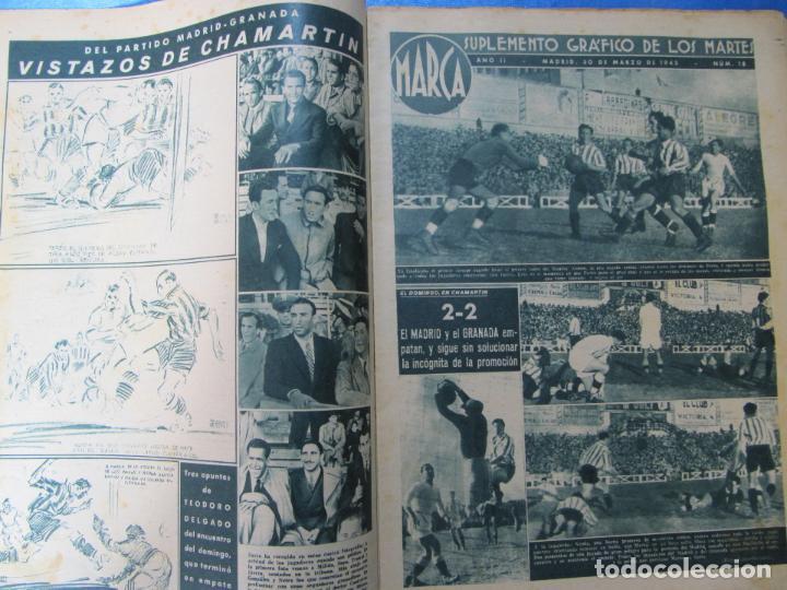 Coleccionismo deportivo: MARCA. SUPLEMENTO GRÁFICO DE LOS MARTES. AÑO II. 30 DE MARZO DE 1943. NUM. 18. LIGA DE FÚTBOL. - Foto 2 - 74695803