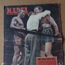Coleccionismo deportivo: SEMANARIO MARCA. 1951. EN PORTADA JOE LOUIS VENCE POR K.O. A LEE SAVOLD - COPA LATINA - SEVILLA BO. Lote 74696271