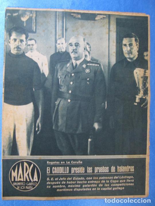 MARCA. SUPLEMENTO GRÁFICO DE LOS MARTES. AÑO II. 10 DE AGOSTO DE 1943. Nº 37. CICLISMO (Coleccionismo Deportivo - Revistas y Periódicos - Marca)