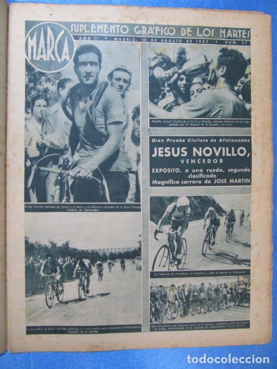 Coleccionismo deportivo: MARCA. SUPLEMENTO GRÁFICO DE LOS MARTES. AÑO II. 10 DE AGOSTO DE 1943. Nº 37. CICLISMO - Foto 2 - 74907763