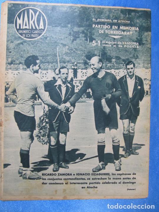 Coleccionismo deportivo: MARCA. SUPLEMENTO GRÁFICO DE LOS MARTES. AÑO II. 10 DE AGOSTO DE 1943. Nº 37. CICLISMO - Foto 3 - 74907763