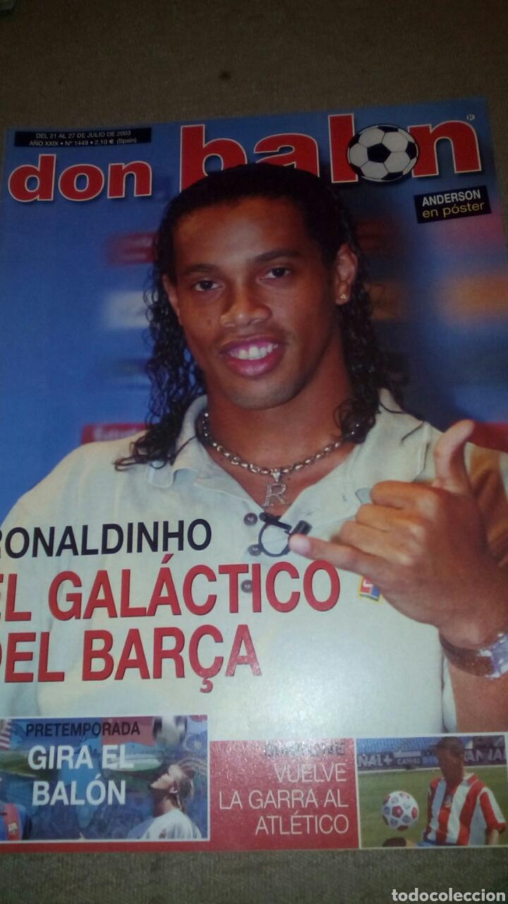 DON BALÓN N°1449 RONALDINHO,SIMEONE POSTER DE ANDERSON DEL VILLARREAL (Coleccionismo Deportivo - Revistas y Periódicos - Don Balón)