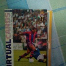 Coleccionismo deportivo: VIRTUAL CARDS FUTBOL CLUB BARCELONA FCB COMPLETO CROMOS NO BOLLYCAO,CROPAN. Lote 75258715