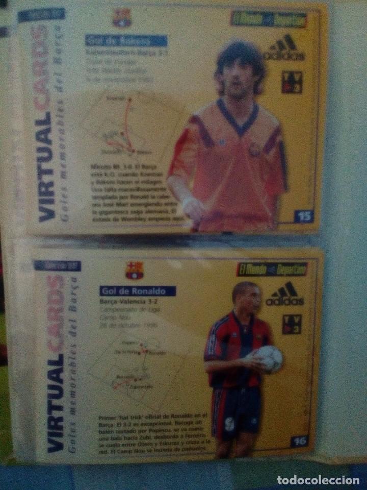 Coleccionismo deportivo: Virtual cards futbol club barcelona fcb completo Cromos no bollycao,cropan - Foto 4 - 75258715