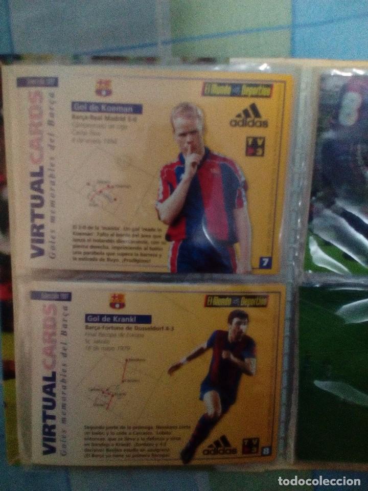 Coleccionismo deportivo: Virtual cards futbol club barcelona fcb completo Cromos no bollycao,cropan - Foto 8 - 75258715