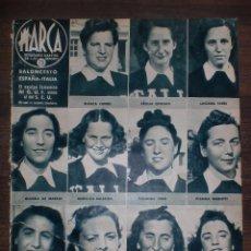 Coleccionismo deportivo: MARCA SEMANARIO GRÁFICO DE LOS DEPORTES. AÑO V. AGOSTO 1942. Nº182. BALONCESTO ESPAÑA-ITALIA.. Lote 75577487