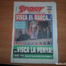Coleccionismo deportivo: SPORT Nº 4497 22 MAYO 1992 VISCA VIXCA FC BARCELONA BARÇA CAMPEON DE LA COPA DE EUROPA 92 . Lote 75580111