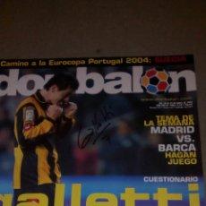 Coleccionismo deportivo: DON BALON N°1488 POSTER MISTA DEL VALENCIA PORTADA FIRMADA POR GALLETTI DEL ZARAGOZA. Lote 75730002