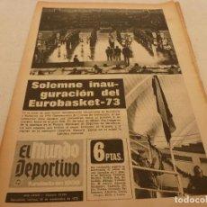 Coleccionismo deportivo: (MS)MUNDO DEPORTIVO(28-9-73)!JOHAN CRUYFF VOLVIÓ A ENTUSIASMAR!MÁLAGA,EUROBASKET-73,ALONSO(LEVANTE). Lote 132971630