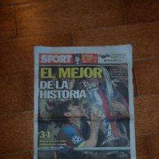 Coleccionismo deportivo: SPORT Nº 11384 29 - 05 - 2011 BARCELONA BARÇA CAMPEÓN DE EUROPA - 4 ª CHAMPIONS LEAGUE. Lote 76232543