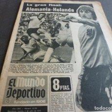 Coleccionismo deportivo: (MS)MUNDO DEPORTIVO(4-7-74)FINAL MUNDIAL-74 HOLANDA-ALEMANIA!2-0 A BRASIL Y 1-0 A POLONIA! CRUYFF. Lote 136430465