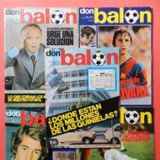 Coleccionismo deportivo: REVISTA DON BALON 1975 COLECCION LOTE 5 PRIMERAS REVISTAS Nº 1-2-3-4-5 AÑO 75 INCLUYE POSTER. Lote 101015927