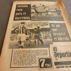 Collectionnisme sportif: (MS)MUNDO DEPORTIVO(19-3-73)BARÇA 1 R.SOCIEDAD 0,ZARAGOZA 1 ESPAÑOL 0,SAN ANDRÉS 2 RACING SANTANDER. Lote 76675671