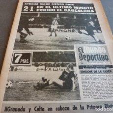 Coleccionismo deportivo: (MS)MUNDO DEPORTIVO(1-10-73)R.SOCIEDAD 2 BARÇA 1,URRUTI,RAYO 1 SAN ANDRÉS 0,CONDES DEL PALLARS.. Lote 76684783