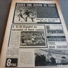 Collezionismo sportivo: (MS)MUNDO DEPORTIVO(25-3-74)ESPAÑOL 1 ELCHE 1,BILBAO 0 BARÇA 0,CRUYFF,SABADELL-ORENSE,MARIANO HARO. Lote 76698415