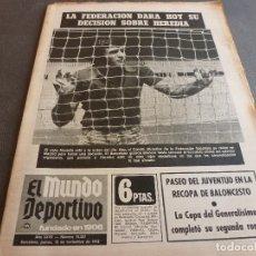 Collectionnisme sportif: (MS)MUNDO DEPORTIVO(16-11-72)LOMBARDIA(OVIEDO)UEFA,ELVIS PRESLEY,MICHAEL JACKSON,NAVES DR.FUTBOLISTA. Lote 76746015