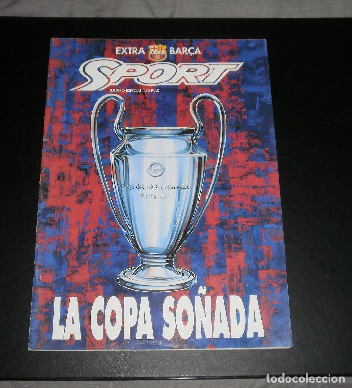 REVISTA SPORT. ESPECIAL PREVIO FINAL COPA DE EUROPA FC BARCELONA VS SAMPDORIA. CHAMPIONS, 1992 (Coleccionismo Deportivo - Revistas y Periódicos - Sport)