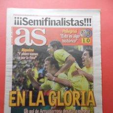 Coleccionismo deportivo: DIARIO AS ABRIL 2006 CLASIFICACION VILLARREAL CF INTER MILAN SEMIFINALES CHAMPIONS LEAGUE 05/06. Lote 76926017