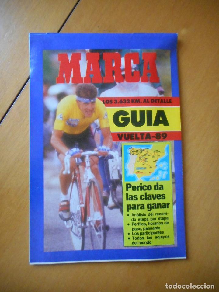 MARCA. GUÍA DE LA VUELTA A ESPAÑA 1989 -89-. TODA LA INFORMACIÓN. 70 PÁGINAS. BUEN ESTADO (Coleccionismo Deportivo - Revistas y Periódicos - Marca)