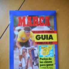 Coleccionismo deportivo: MARCA. GUÍA DE LA VUELTA A ESPAÑA 1989 -89-. TODA LA INFORMACIÓN. 70 PÁGINAS. BUEN ESTADO. Lote 77084389