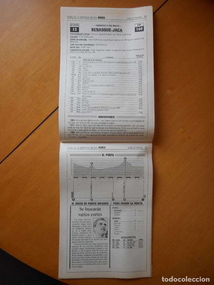 Coleccionismo deportivo: Marca. Guía de la Vuelta a España 1989 -89-. Toda la información. 70 páginas. Buen estado - Foto 2 - 77084389