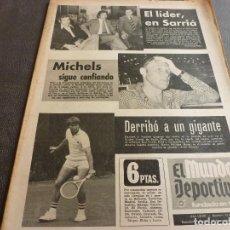 Coleccionismo deportivo: (MS)MUNDO DEPORTIVO(12-10-73)FERMIN(CASTELLÓN)REINA(AT.MADRID)MORENO(TENIS)CONDE DE GODÓ.. Lote 77570713